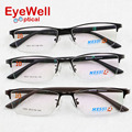 Most popular half rim brand optical frame metal alloy eyeglasses with TR temple comfortable wearing hot style good quality 1003