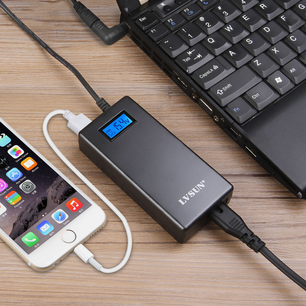Udoli 70 W Mini Universel Voyage Ordinateur Portable AC Chargeur Adaptateur secteur avec écran lcd pour hp dell ibm lenovo d'alimentation portables fournir