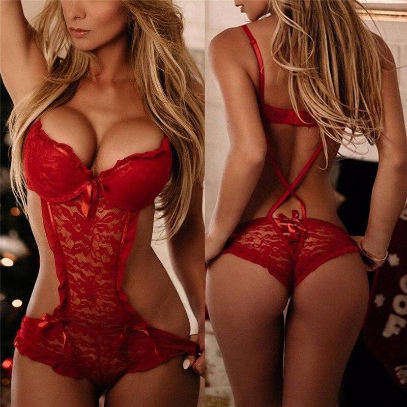 Sexy Costumes Lace Nightgowns Sleepwear Babydolls Red Teddies Sexy Lingerie Hot Sexy Underwear