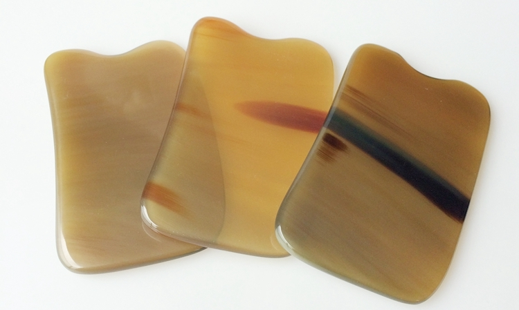 Quality Beauty buffalo horn scraping plates stovepipe body face massage use 5/6/7mm buffalo bill cody