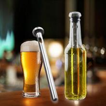 2Pcs  Stainless Steel Beer Coolers Stick Wine Chiller Beverage Frozen Stick Ice Durable Barware Beer chiller stick Bar necessary