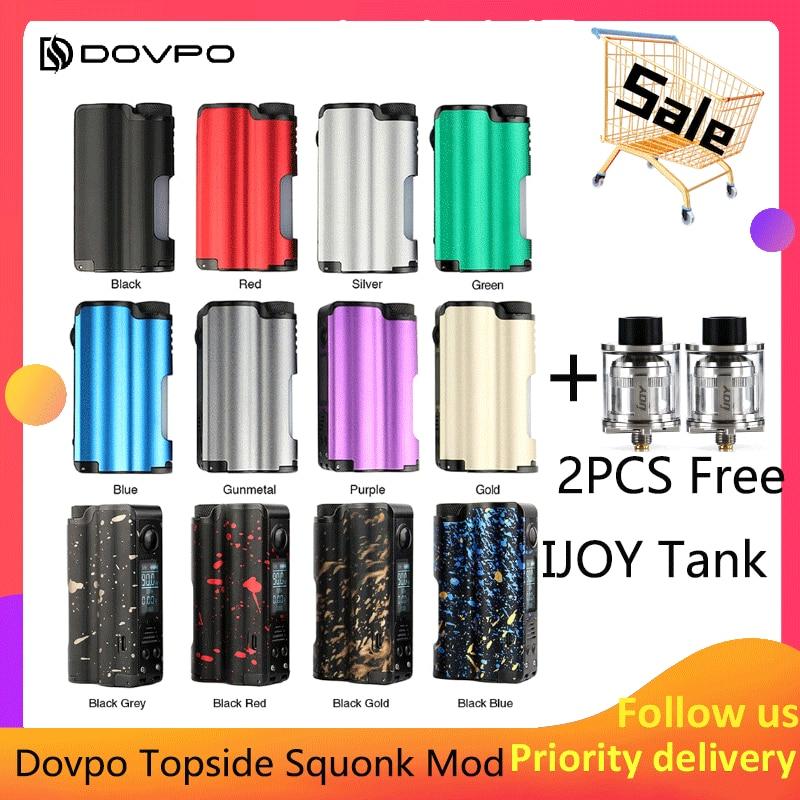 Cadeau Original Dovpo Topside Squonk Mod 90 W haut remplir avec 10 ml Squonk bouteille alimenté par unique 21700 vs athena squonk Rage Mod