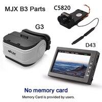 MJX C5820 Fotocamera D43 LCD Schermo G3 Occhiali 5.8G FPV Immagine in tempo reale di Trasmissione 300 m MJX B3 Bugs 3 Quadcopter di Ricambio parti