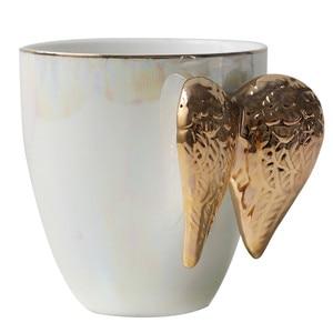 Image 5 - Tasse créative en céramique avec poignée plaquée or et ailes dange, tasse créative en porcelaine, pour bureau, pour le café, pour la maison, cadeau à Couple, décoration de la maison