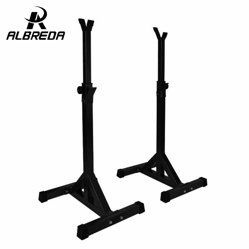 ALBREDA quality Adjusted squat stand Barbell rack barbell barbell squat body frame weight lifting barbell Rack fitness equipment