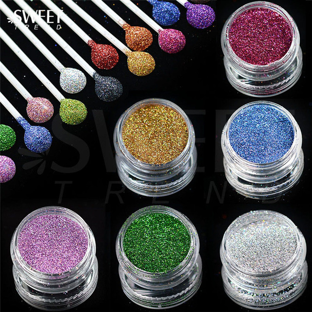 Shiny Laser Holographic Nail Glitter Dust Powder