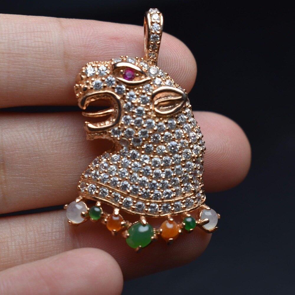 Fine Jewelry Real 925 Steling Silver s925 100% Natural Jade Gemstone pingent labradorite Female Pendant Necklaces Christmas Gift fine jewelry real 925 steling silver s925 100