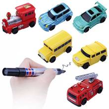 1 Piece Magic Toy City Vehicles Intelligence Inductive Auto Moving Truck Children Toy Truck Car Drawn Rail Truck Inductive Car(China)