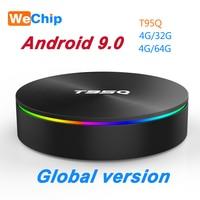 T95Q 4G+64G Android 8.1 LPDDR3 Amlogic S905X2 TV BOX Quad Core Dual Wifi BT4.1 1000M H.265 4K 4G+32G Set Top Box PK X96 H96 MAX