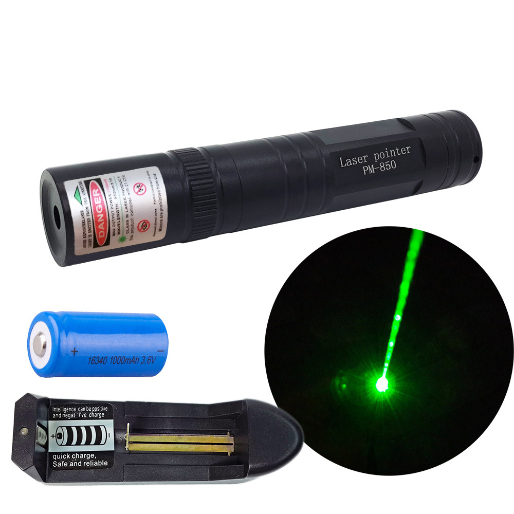 Online Shop High Power Laser 303 Powerful 532nm Green Pointer Atau Hijau Point Flashlight With Rechargeable 16340 Battery And Charger H024