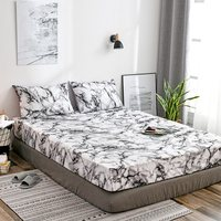 Простыня с эластичной лентой 160x200 покрывало для матраса постельное белье Мраморное постельное белье двойной одиночный взрослый король