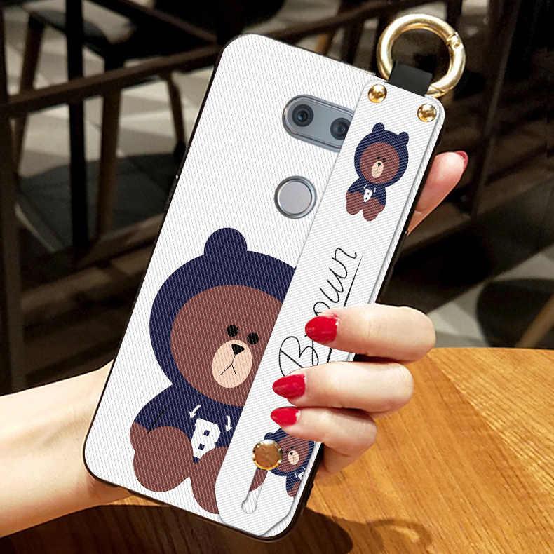 Funda de caricatura de oso bonito para LG Optimus G2 F320 G3 G4 G4C G5 G6, funda de correa de silicona suave para LG Magna V10 V20 V30