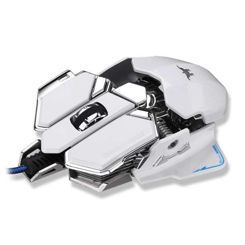 Game Mouse 4800DPI Optical USB Wired Gaming Mouse Mice For Windows Mac OS PC A8