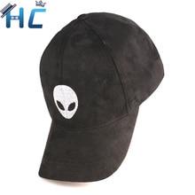 2016 Gorras Snapback Suede Baseball Cap Aliens Outstar Saucer Space E.T UFO Fans Hat for Men Women Solid Hip Hop Cap Black