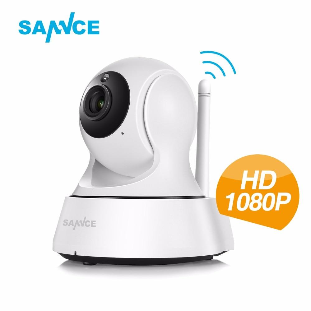 imágenes para Sannce 720 p cámara ip wi-fi smart wireless 720 p mini pt cámara de 1mp baby monitor de seguridad cctv cámara de vigilancia