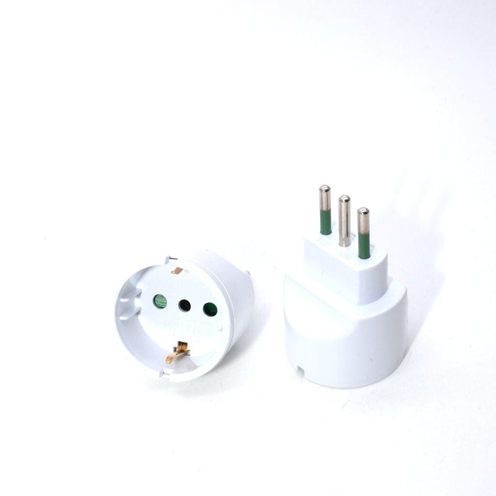 European Plug TO Italy Standard Power Adapter Socket 10A Travel Plugs AC 110~250V,1PCS lightning adapter plug socket gsm abroad versatile power converter to convert british standard europ