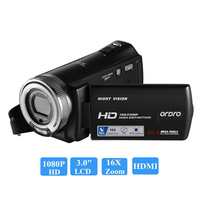 Ordro HDV-V12 1080 P Full HD Цифровая видеокамера 16x цифровой зум цифровое Вращение ЖК-экран Макс. 24MP ночное видение