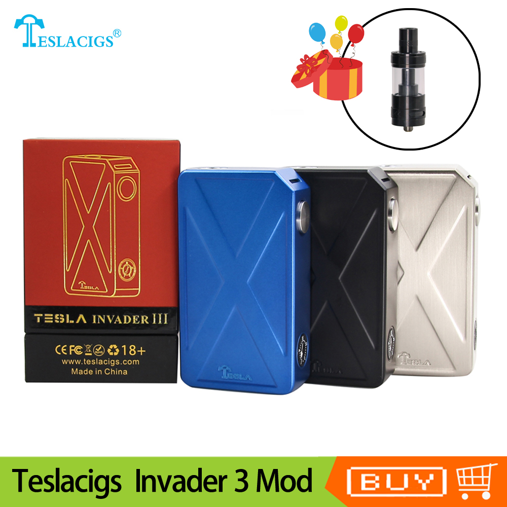 Original teslacigs Tesla Eindringling 3 III 240 W Box Mod Eindringling 3 vape Mod für 510 Gewinde Elektronische zigarette Mod vape VS drag 157 W