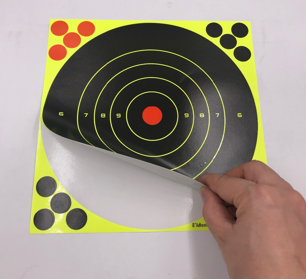 """Image 3 - 20/40PC 8"""" Splatter Self Adhesive Target Stickers Fluorescent Yellow use for AirSoft BB Guns Air Rifle Target Practice Shooting-in Paintball Accessories from Sports & Entertainment"""