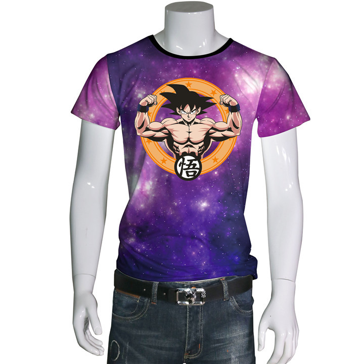 2017 New Letter Print T Shirt Mens dragonball Comic Con Cosplay T-shirts Summer Skateboard Tee Boy Skate Tshirt Tops