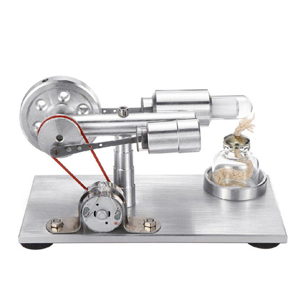 Bricolage Air chaud Stirling moteur moteur modèle jouet éducatif générateur d'électricité physique Science expérience jouet pour enfants adultes