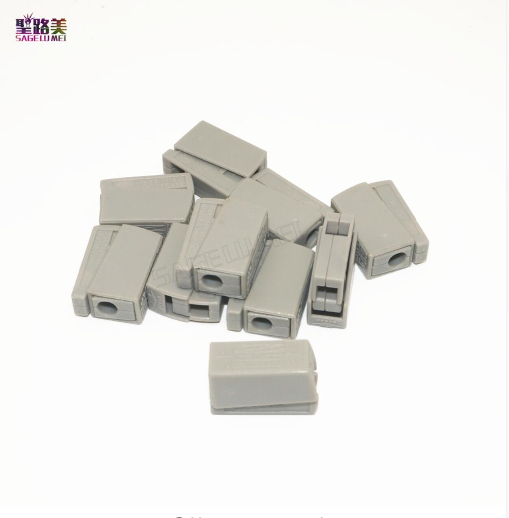 Hot Sale 20 50 100pcs Pack Wago Push Wire Wiring Connector For Phone Terminal Block Junction Box 4 Pin Conductor Awg 18 12