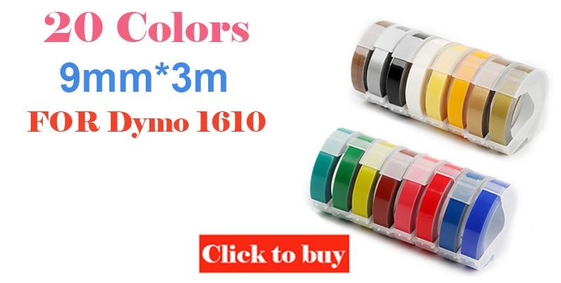 Dymo 1610 manual label maker for 3D embossing plastic 1610