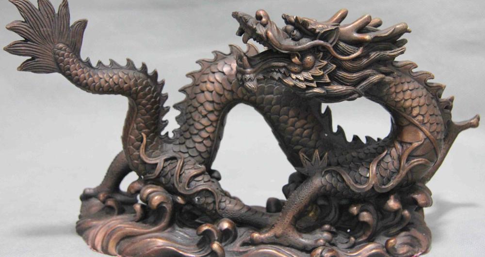 Pure Red Rame Bronze Feng Shui Zodiacale Fortunato Buon Auspicio Cina Drago Statua ArtPure Red Rame Bronze Feng Shui Zodiacale Fortunato Buon Auspicio Cina Drago Statua Art