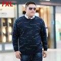 Hombres ropa nueva llegada del otoño más tamaño superior masculino suéter grasa o-cuello flojo suéter 7XL Gran patio suéter 6XL 5XL 4XL
