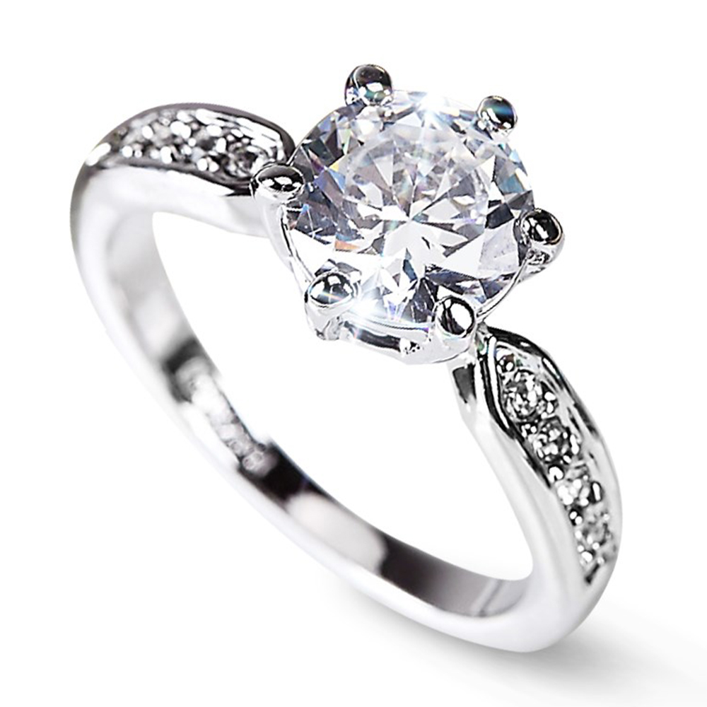 Engagement Rings On Sale Newcastle: Clearance Sale Lozenge Engagement Rings Women Silver