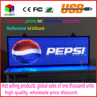 RGB Full color P5 Indoor LED Message Sign Moving Scrolling Display Board for shop& windows