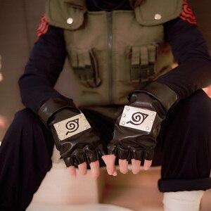 Image 2 - أنيمي ناروتو هاتاكي كاكاشي تأثيري حلي هالوين الملابس سترة قميص السراويل قفازات قناع عقال 6 قطعة مجموعة مخصص الحجم
