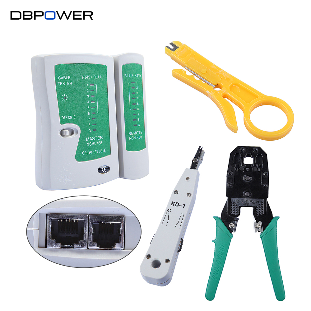 small resolution of cable detector rj45 rj11 rj12 cat5 cat5e portable lan network tool kit utp cable tester and plier crimp crimper plug clamp