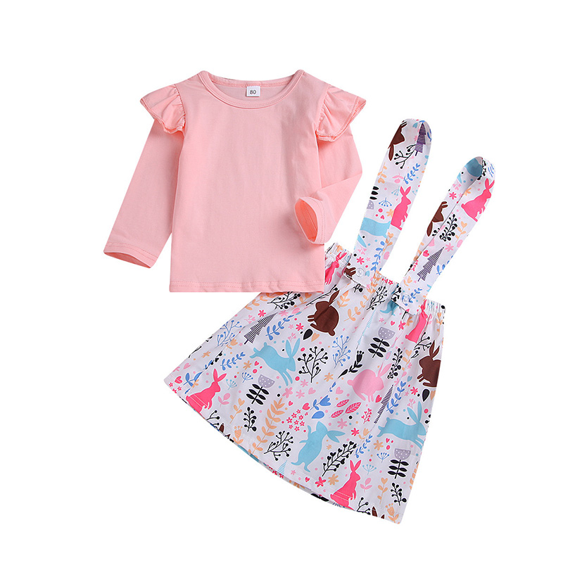 Girls Clothes Sets Children Autumn Fashion Cartoon Printing Suit Cute Kids Skirt Clothing in Clothing Sets from Mother Kids