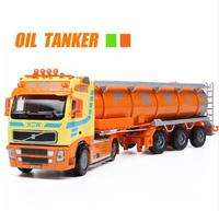 New Tank Truck 6 Wheel Linkage Alloy Diecast Model Transportation Tools For Little Baby Gifts Engineering Vehicle Kids Toys