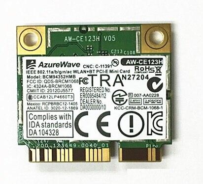 SSEA nouvelle AzureWave Broadcom BCM94352HMB BCM94352 802.11ac WLAN 2.4G/5 Ghz wifi Bluetooth BT4.0 moitié Mini carte PCI-E 867 Mbps