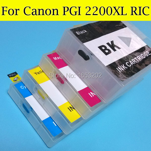 ФОТО NEW and HOT Refill Ink Cartridge for Canon PGI-2200XL PGI2200XL Ink Catridge for Canon MB5320 iB4020 5320 4020 whit ARC chip