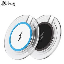 Abbery Wireless Charger Pad for SamsungS6 S7 S8 iphoneX 8plus 6S 7plus Wireless Charger Qi Charging Stand Non-contact Charge Pad(China)