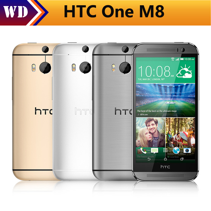 "Original HTC One M8 Unlocked GSM/WCDMA/LTE Quad-core RAM 2GB Cell Phone HTC M8 5.0"" 3 Cameras mobile Phone"