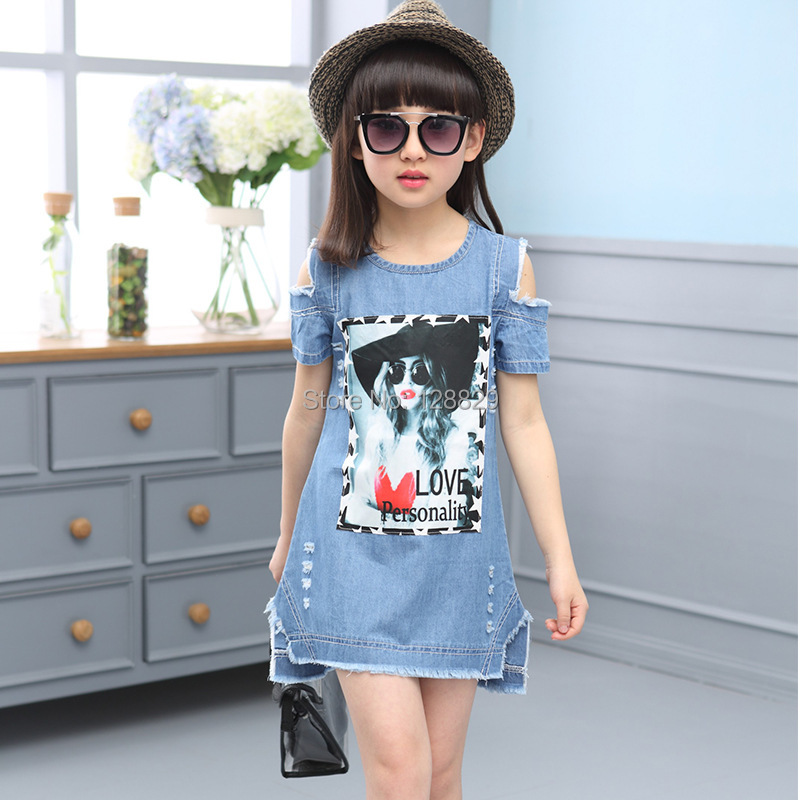 Denim Dresses For Girls (5)