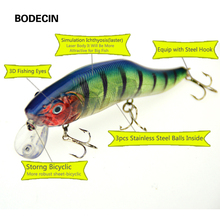 1PCS Fishing Lures Wobbler Lure Artificial Bait Peche For Tackle Wobblers Pike Fly Supplies Hooks 12CM 24.5G Vibrator Bass Sea