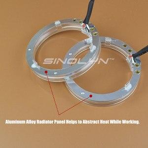 Светодиодный оптический объектив Angel Eyes 80 мм 98 мм для HID Bixenon, объектив для проектора 2,5/3,0, белый, синий, желтый, поворотные сигнальные огни, ак...