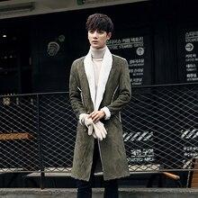 2016 new fashion winter males's leisure jackets trench coat  lengthy  Outerwear Casual Coat Men's Windbreaker