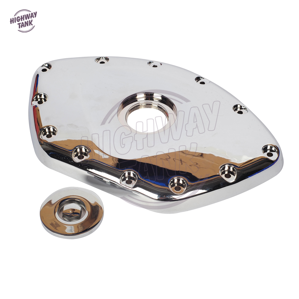 Chrome Motorcycle Front Chain Timing Cover Case for Honda GL1800 GOLDWING GL 1800 2001-2017 rubing matching motorcycle accessories gn250 did9 timing chain in pieces