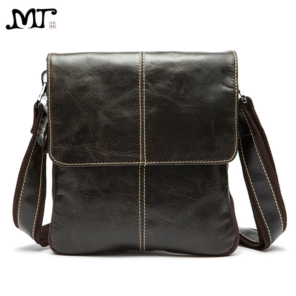 MJ Genuine Leather Male Bags High Capacity Real Leather Men's Messenger Bag Solid Crossbody Shoulder Handbag for Men Vertical danjue brand men chest bags real genuine leather male messenger bag casual fashion highquality big capacity travel crossbody bag