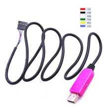 1 шт. PL2303 HXD 6Pin USB ttl RS232 конвертер последовательный кабель PL2303HXD совместимый Win XP/VISTA/7/8/8,1/Android OTG