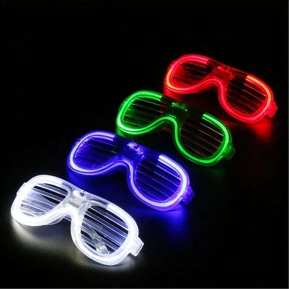 Hot Sales Led Glow Glasses Shutter LED Glasses Fashion Festival Party Prom Fluorochrome Decorative Sunglasses Four Colors
