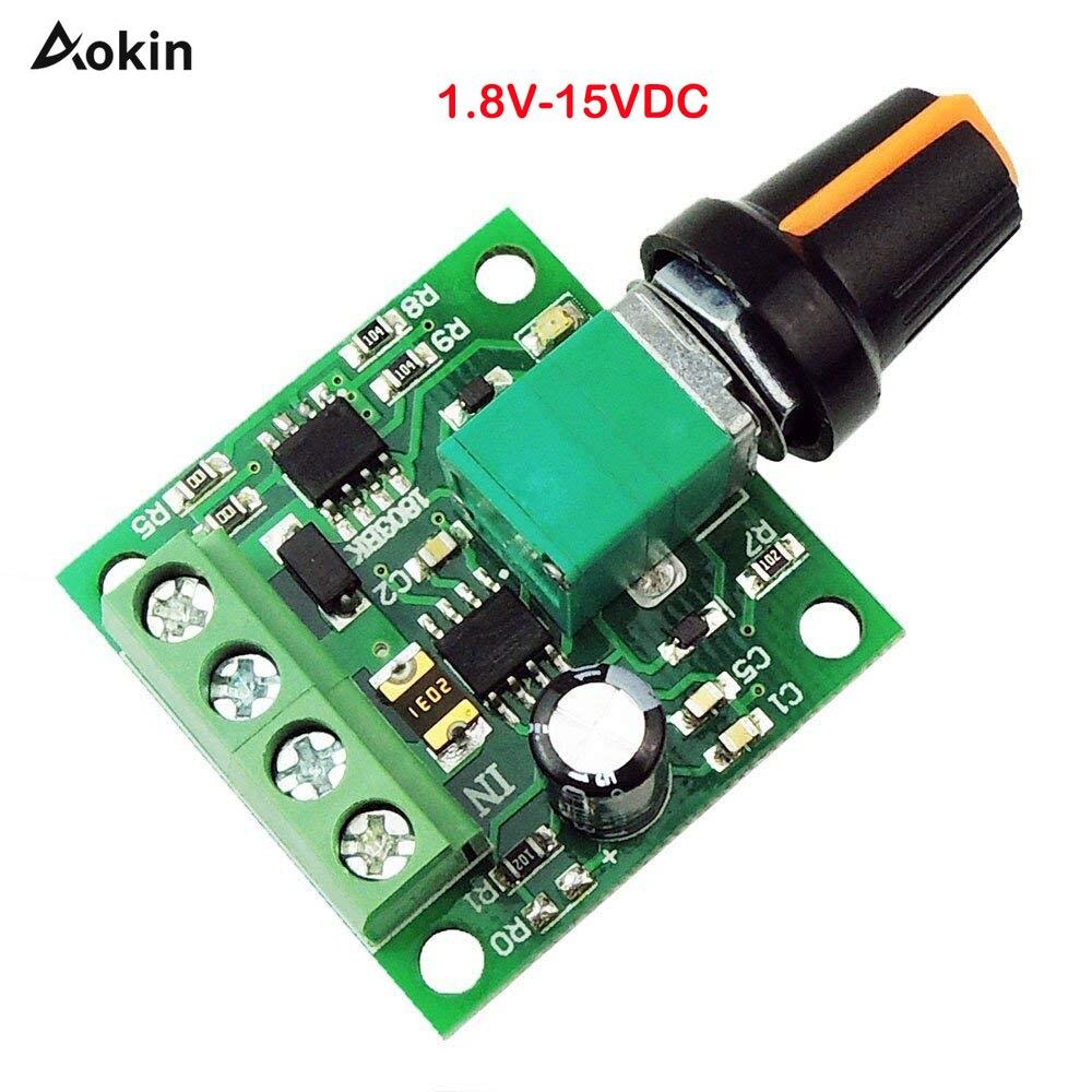 Conductor Dc Motor Speed Regulador Interruptor Ajustable 1.8 ~ 12v Potenciómetro
