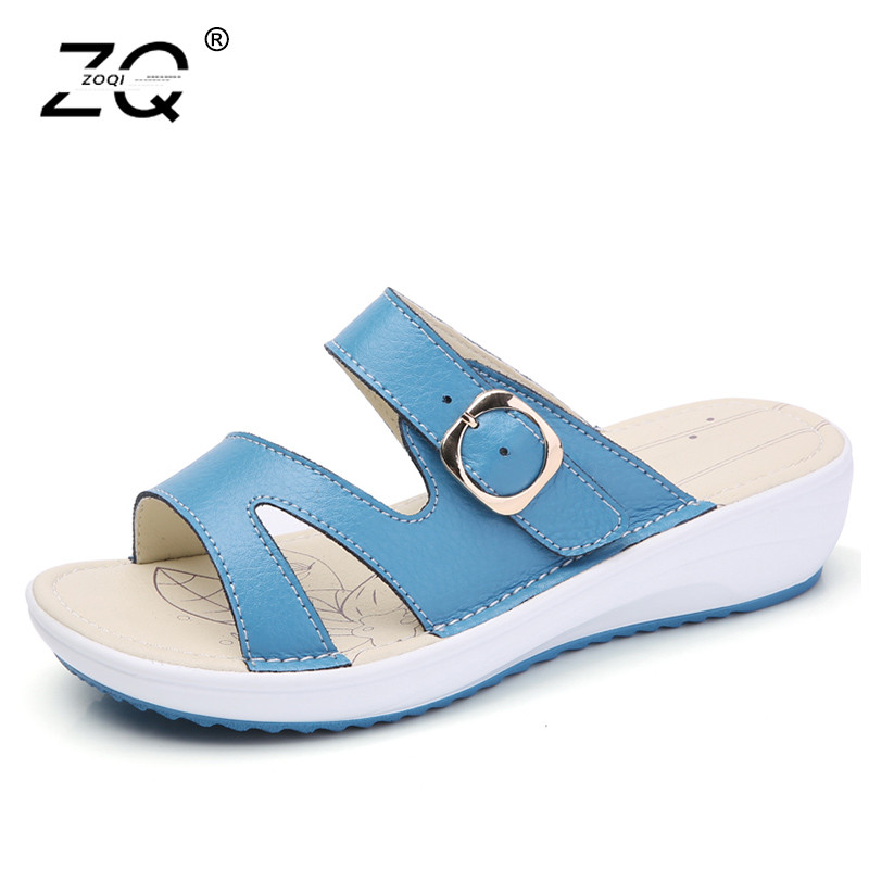 ZOQI Colorful Slippers Women Shose Summer Casual Sandals Women Shoes Beach Platform Shoes Slippers Wedges Sandals Women 2018