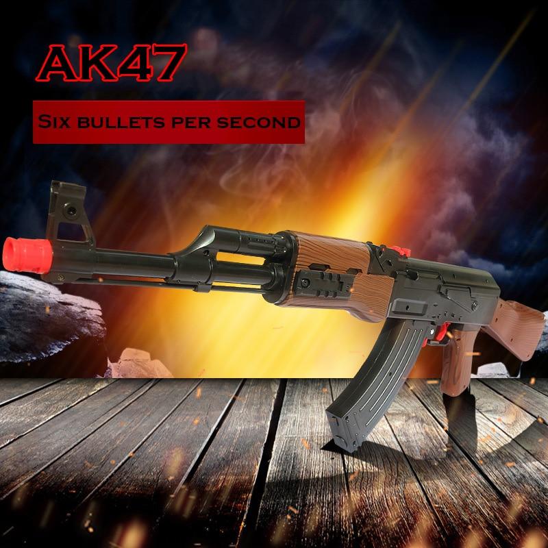 ФОТО Simulator Childrens Toy AK 47 Rifi Soft Bullet Toy Gun Paintball Gun Air Gun Crystal Bullet Gift Kids Gift Boy Idea for CS Game